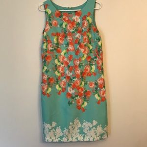 Donna Ricco sleeveless floral dress NWOT